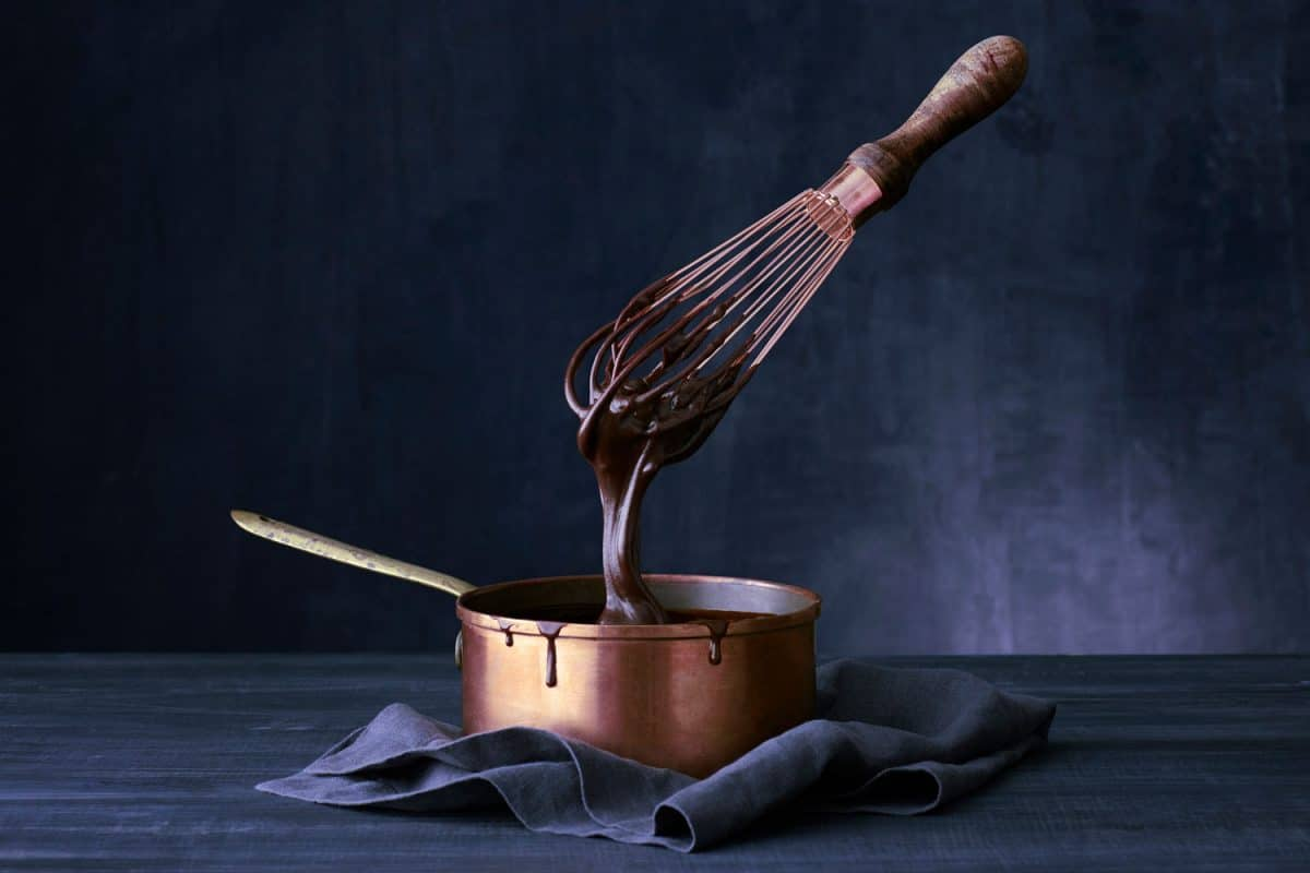 Floating wish dipped into copper pot of chocolate ganache, Are Copper Pans Oven Safe?