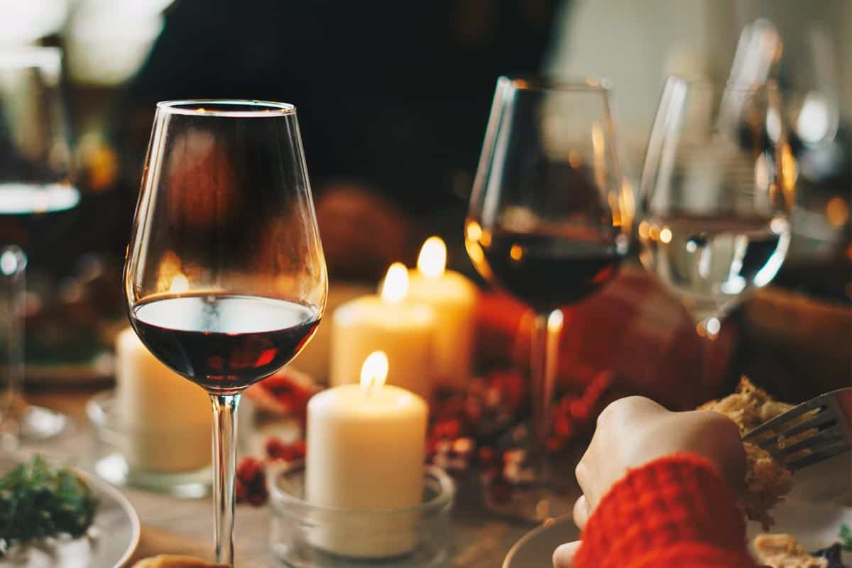 Red wine glasses at dinner table, Are Wine Glasses Microwave-Safe?