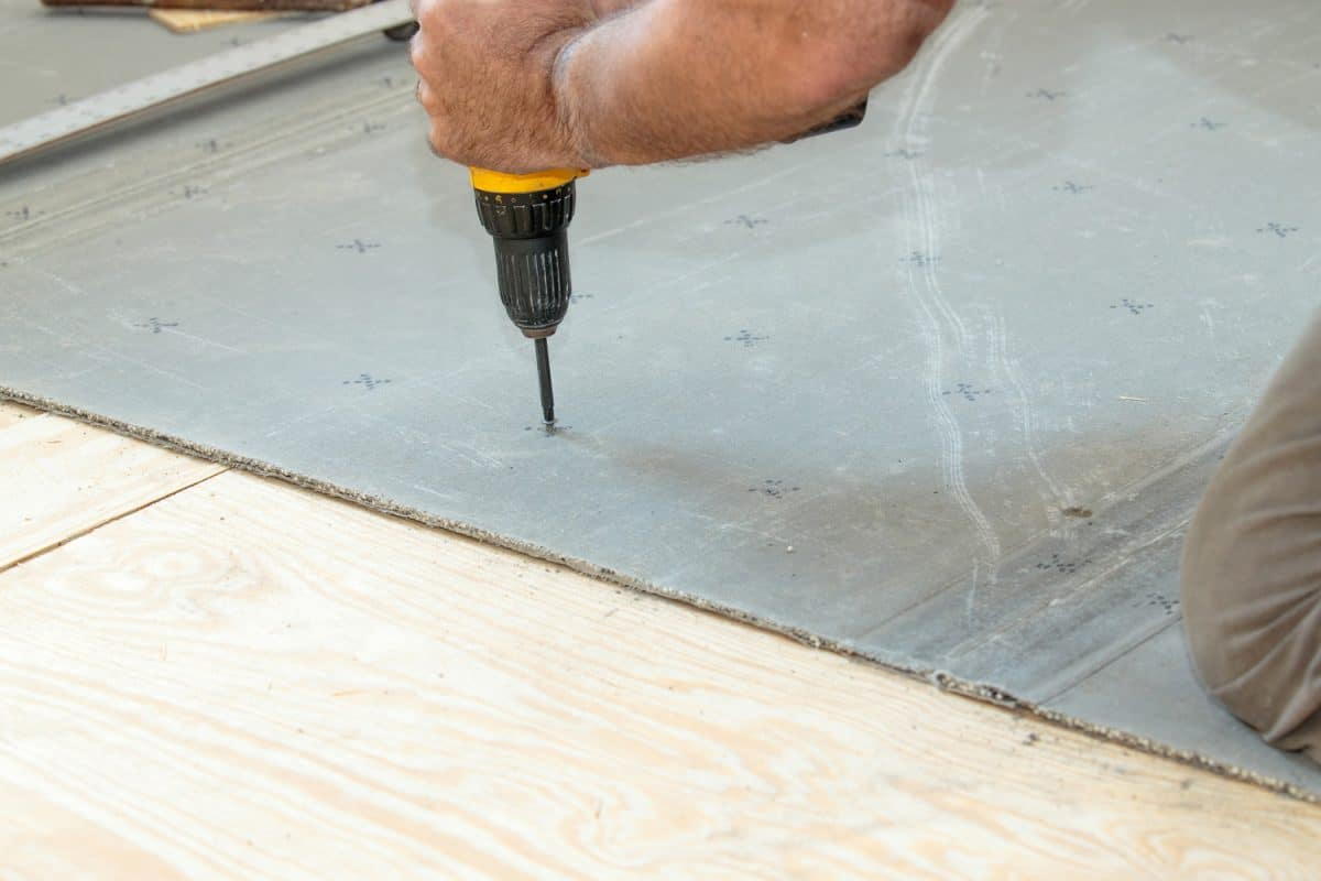 Screwing-cement-board-to-the-subfloor,-Do-Kitchen-Cabinets-Sit-On-Subfloors