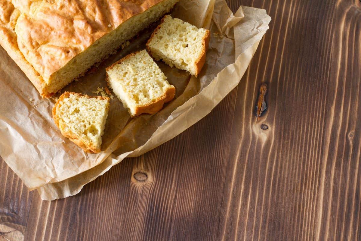 Sliced cornbread placed inside a paper bag, Should You Refrigerate Cornbread?
