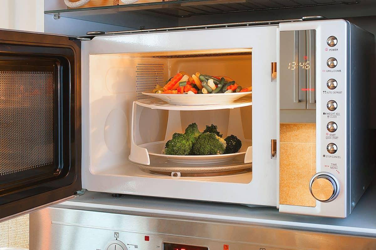 Two-tier microwave oven tray enables heating two plates at once, Why Is My Microwave Sparking With No Metal Inside?