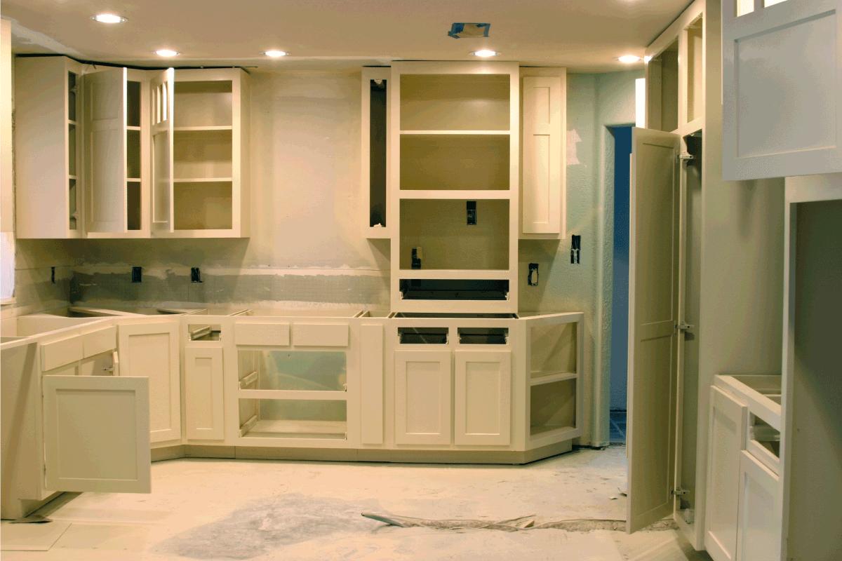 kitchen cabinetry work in progress, kitchen corner. 25 Awesome Corner Kitchen Cabinets Ideas