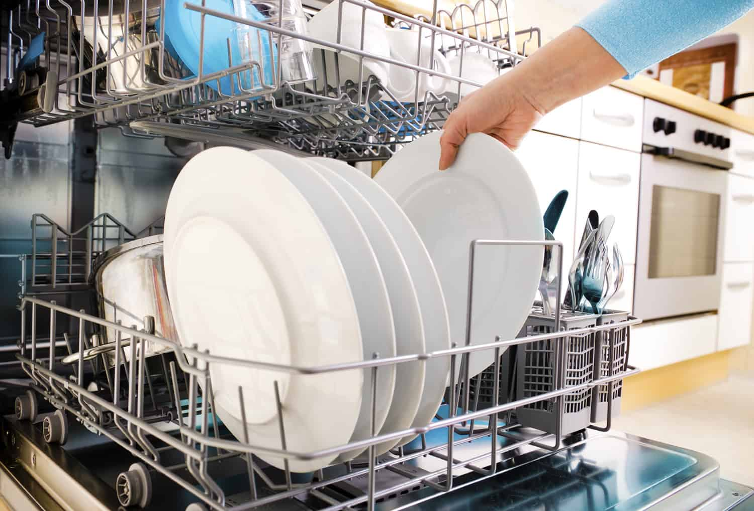 loading a dishwasher with enough load