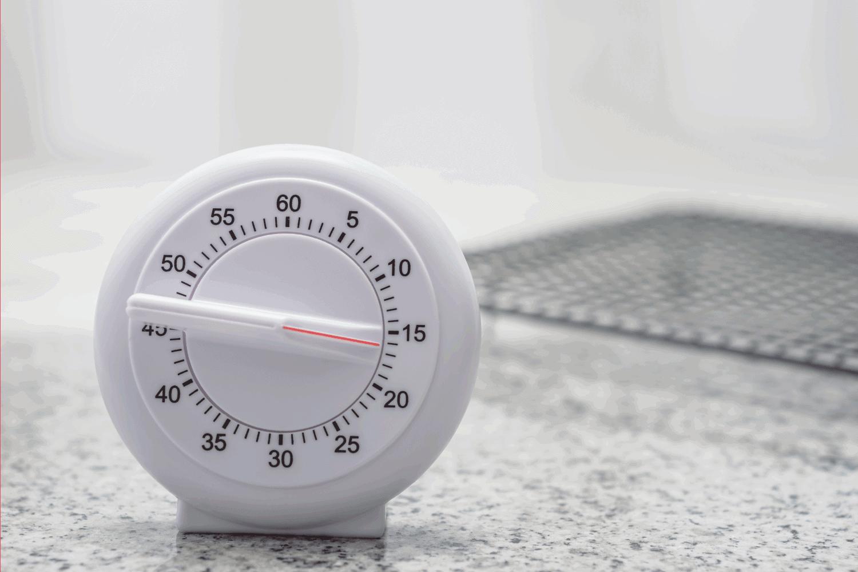 standalone kitchen timer on a desk