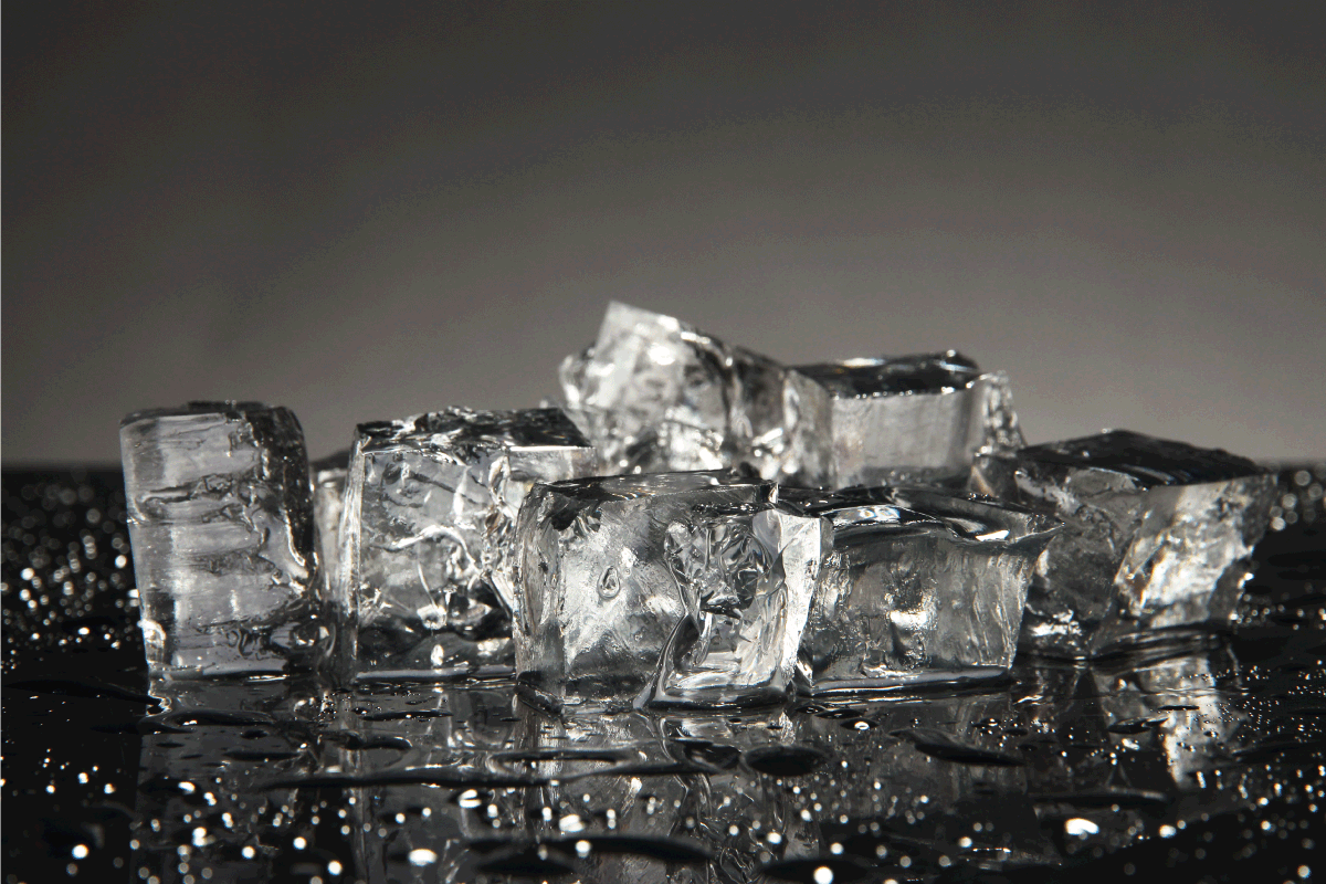 Ice cubes isolated on black. How Long Does It Take For An Ice Maker To Make Ice