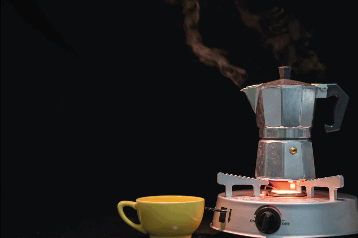 Metal coffee percolator with coffee cup prepare hot coffee. How Long Should A Percolator Perk